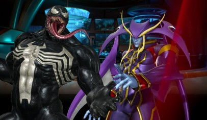 Jugando con Venom en Marvel Vs. Capcom: Infinite
